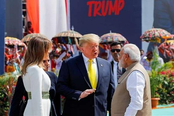after two day tour trump told india great said the trip was successful