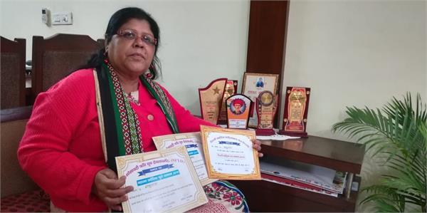 chandigarh writer shakuntala mukherjee received the honor