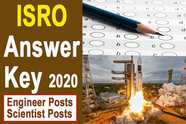 isro answer key 2020 for engineer scientist posts
