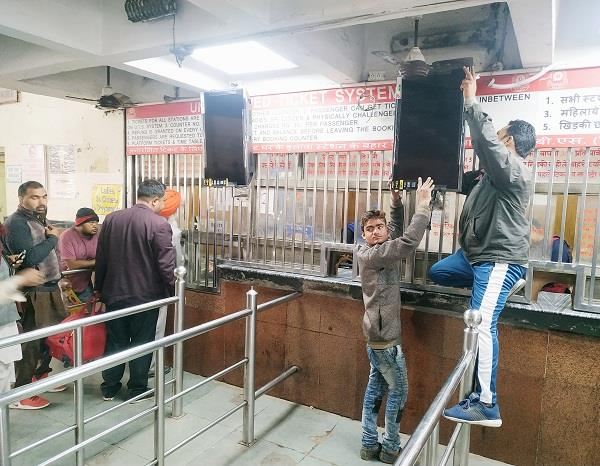 32 inch led screens installed outside city railway station ticket counters