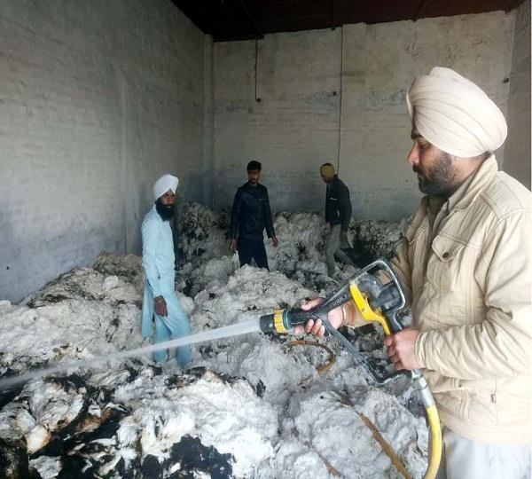 millions lost due to fire in cotton factory