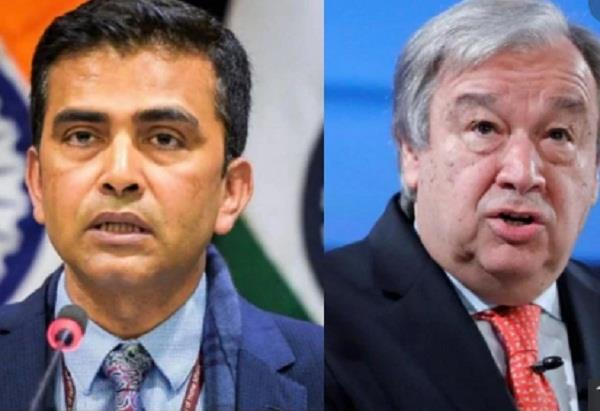 india rejects un chief antonio guterres  kashmir mediation offer