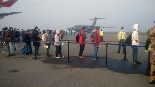 iaf aircraft brings back 76 indians 36 foreigners from corona hit wuhan