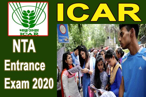 nta expected to announce details for icar entrance 2020 this week