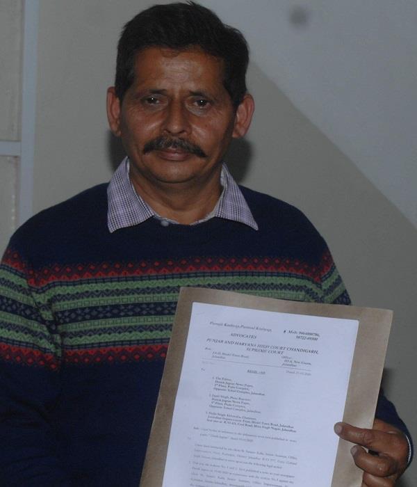 senior assistant sanjeev kalia sent legal notice to daljit singh ahluwalia