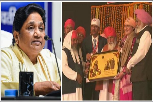 congress bjp and other parties are pretending to praise sant ravidas mayawati