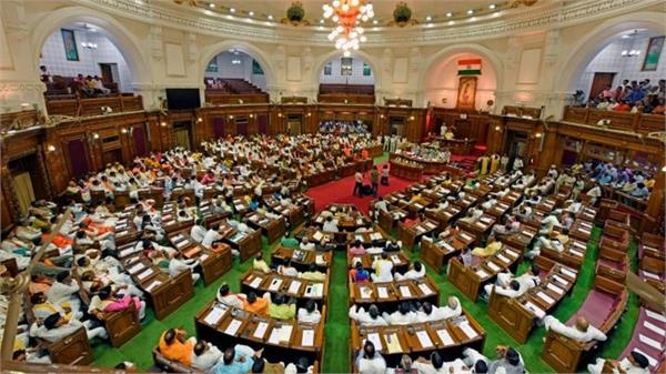 budget session day 2 opposition again creates a ruckus in