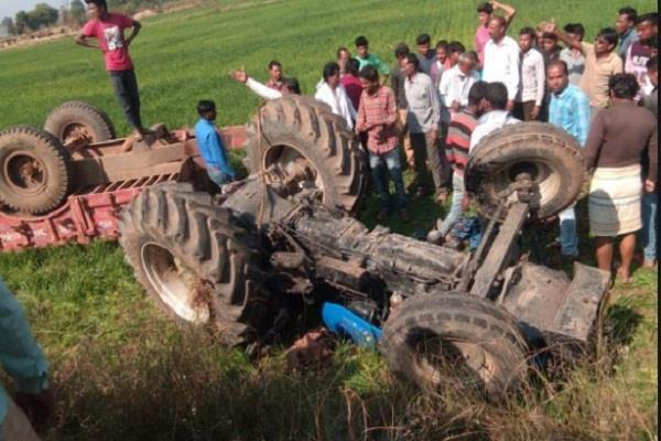 badaun 4 traumatic deaths in road accident