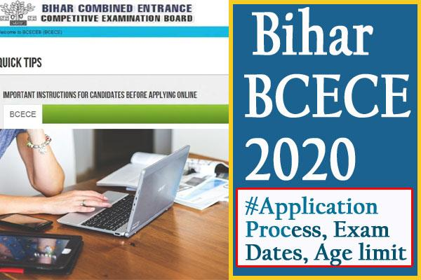 bihar bcece 2020 application process starts