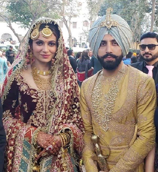 gurdas maan s son gurike maan tied the knot with bollywood actress simran kaur
