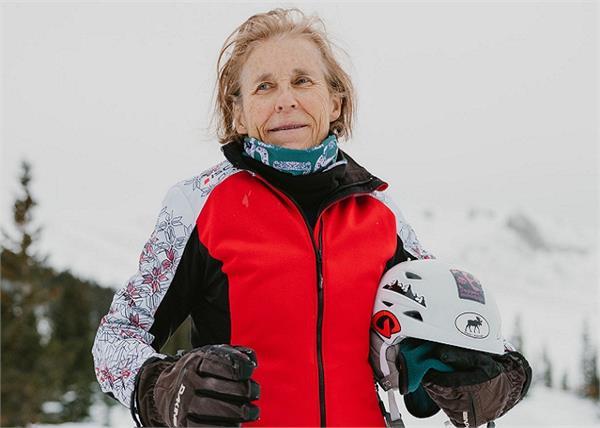 अपहिल स्की रेसिंग की सबसे उम्रदराज खिलाड़ी बनीं शेरन क्राफोर्ड