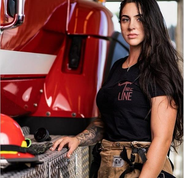 female firefighter claims she was fired for posting workout photos to instagram