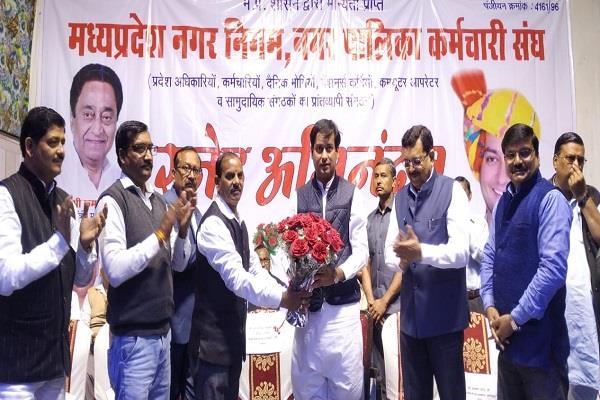 jayavardhan singh s big gift to the civic body employees