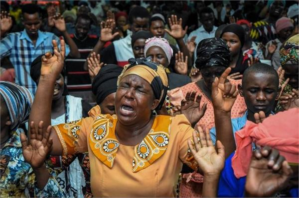 at least 20 killed in stampede at tanzania church service