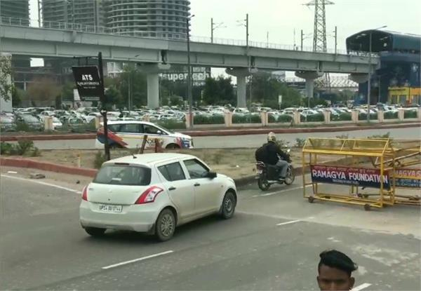 route from kalindi kunj to faridabad jaipur opened for a while