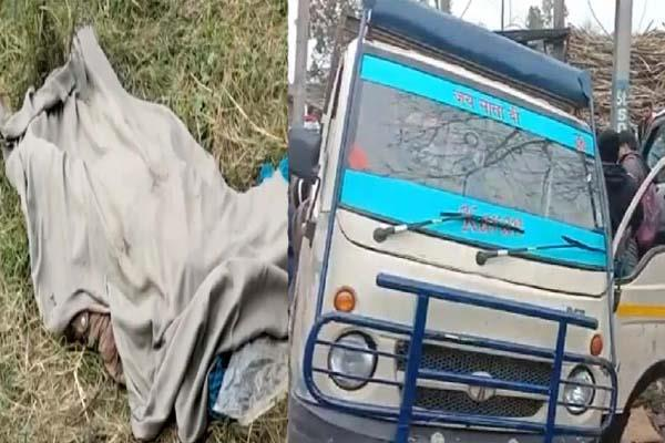 one killed 6 injured in collision between tampo and scorpio