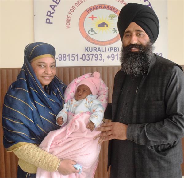 4 month old girl found in prab ashara kurali s swing