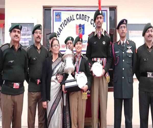 this daughter returned after receiving the best ncc cadet award