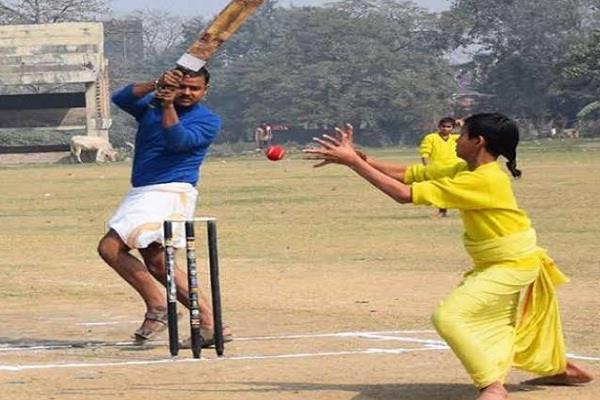 unique cricket is played in this institute of varanasi