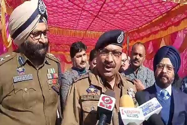 kishtwar will soon be made terrorism free dgp dilbag singh