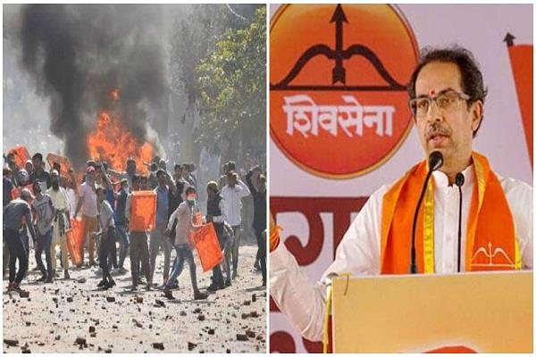 shivsena says delhi violence like horror movie