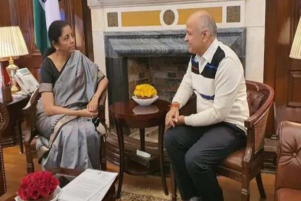 sisodia meets nirmala sitharaman