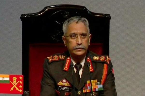 army chief manoj narwane visits kashmir will review security situation
