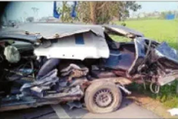 unruly car collides with railing kariana businessman dies