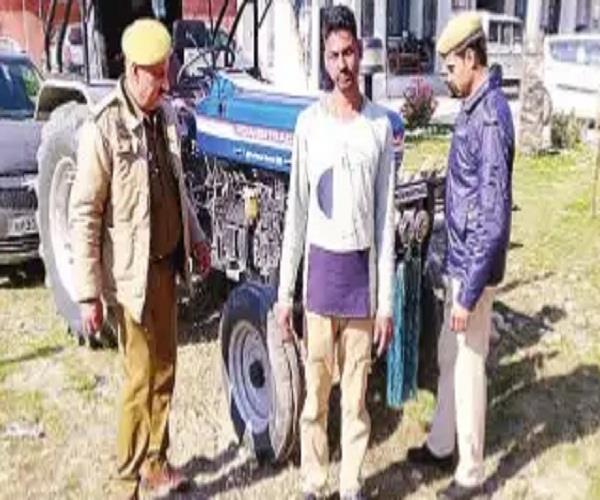 drunken tractor driver creates a ruckus