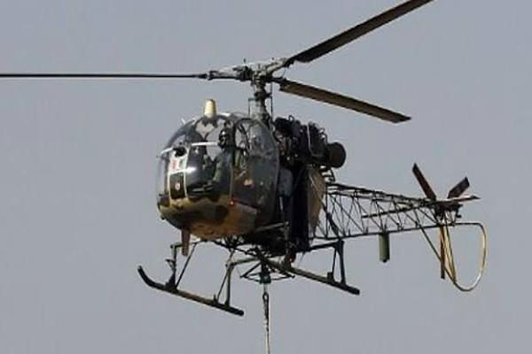 army cheetah chopper crashed near jammu both pilots are safe