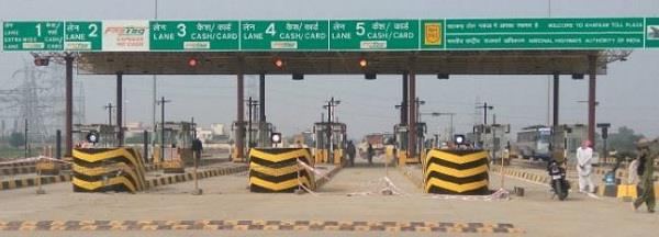 toll plaza started on this road of haryana