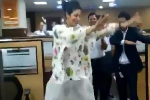 ceo dance and have fun in an office