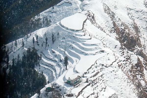 snowfall became a boon in the upper areas of sirmaur