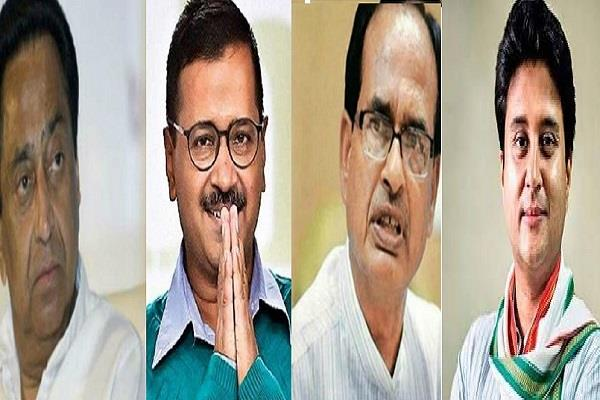 on the rise of kejriwal there is a verbal war between congress and bjp in mp