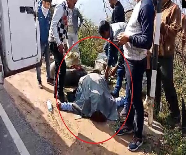 road accident near bagalamukhi temple