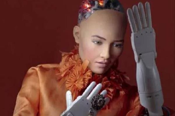 bhu arrives at world s first humanite robot  sophia