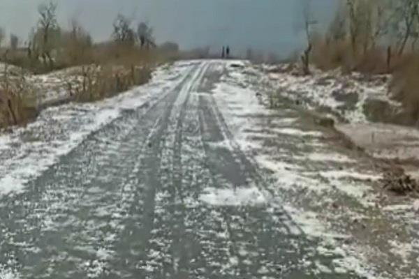weather changes in mp snow sheet in satna