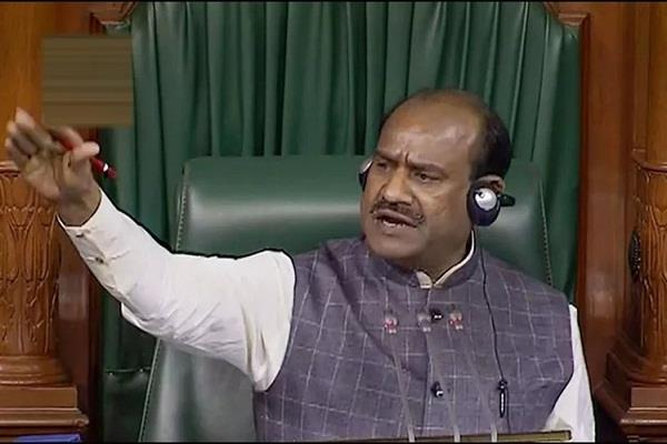 when om birla told the minister did not give you the right to scold
