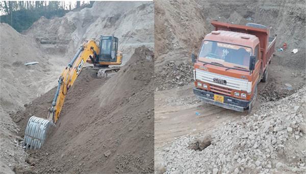 sundernagar police illegal mining vehicles seized