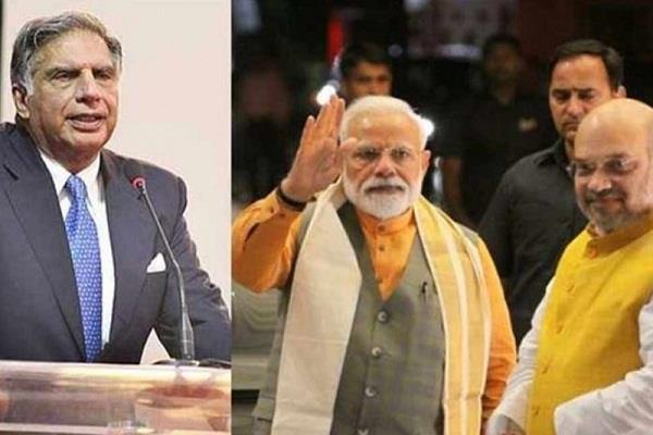 ratan tata praises pm modi and home minister shah