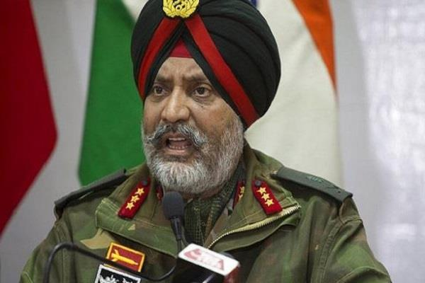 firing border terrorist infiltration army befitting reply general dhillon