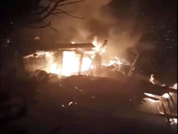 elderly man burnt alive