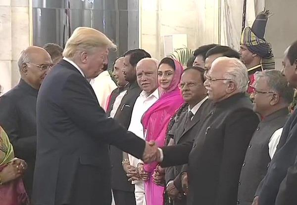 us president donald trump met chief minister manohar lal