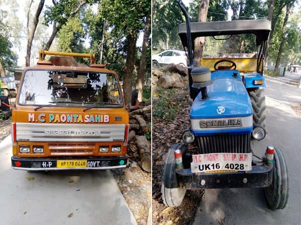 4 vehicles including 2 dumpers of city council seized