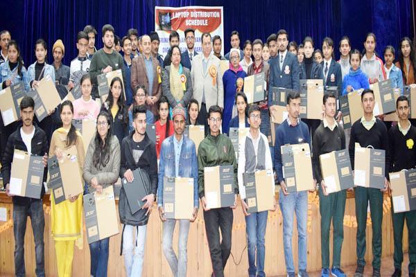 shimla 100 students laptops distributed