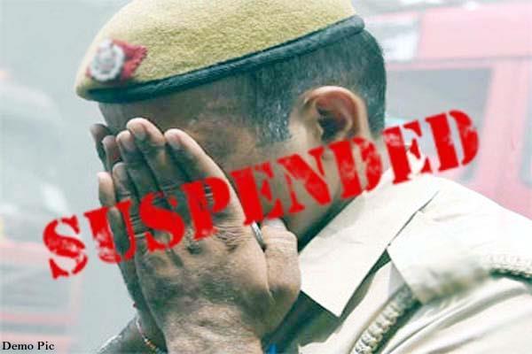 sub inspector and head constable suspend