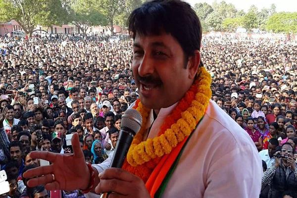 manoj tiwari said  exit poll till 3 pm bjp forming government