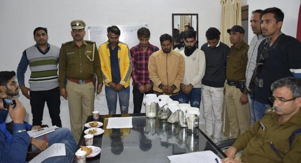 5 accused arrested by haryana police overthrowing atm