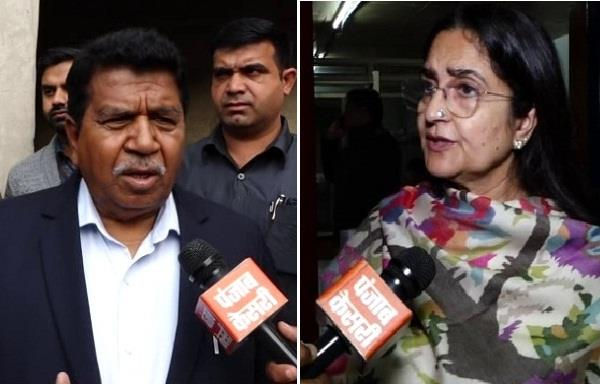 wrangling in assembly read kiran chaudhary and gyanchand gupta statement