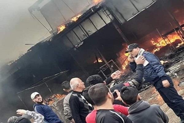 11 killed in refugee camp fire in gaza